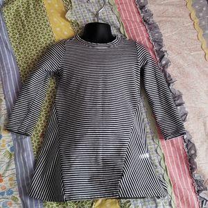 Long sleeve striped baby gap dress